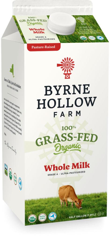 BHF grass fed whole halfgal - Grass-Fed Organic Milk